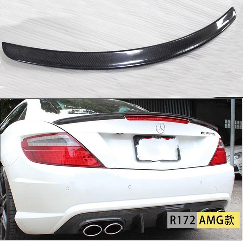carbon fiber rear spoiler trunk boot wing for benz r172. Black Bedroom Furniture Sets. Home Design Ideas