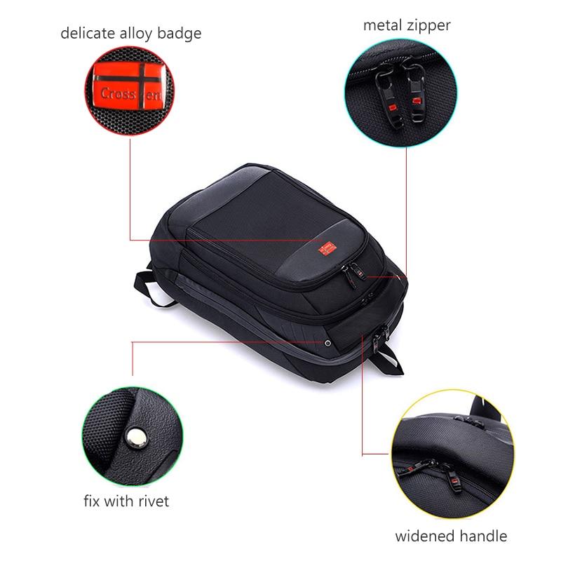 """Image 2 - Crossren Multifunctional swiss bags 15"""" laptop backpack Schoolbag Luggage Bag Waterproof Urban Rucksack Travel Bag A16-in Backpacks from Luggage & Bags"""