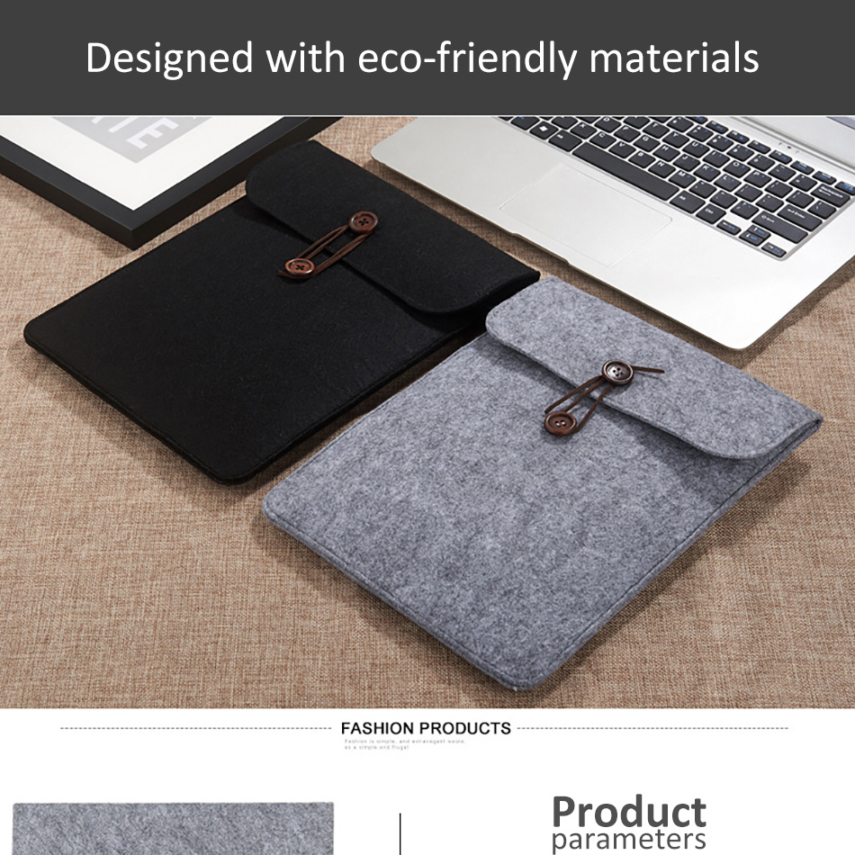 Business 8inch Tablet Sleeve Bag Cover For iPad Mini 1234 Xiaomi Pad 123 10.5inch Protective Pouch Case For iPad 2017 Air 1 (1)