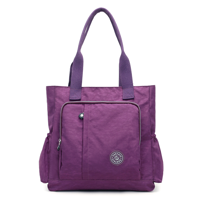 купить New Casual Women Handbag Large Capacity Waterproof Shoulder Bag Fashion Design Wear-resistant Nylon Big Tote Bags по цене 1172.96 рублей