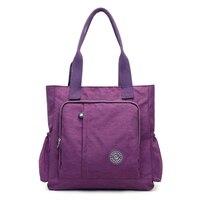 New Casual Women Handbag Large Capacity Waterproof Shoulder Bag Fashion Design Wear Resistant Nylon Big Tote