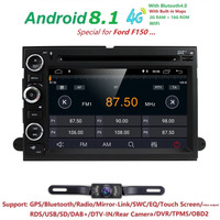 2 Din Android 8.1 Car DVD Player Radio GPS For Ford F150 F 150 Fusion Explorer F500 F350 Edge Expedition Mustang +Camera+Map