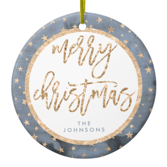 Personalised With Any SURNAME Ceramic Christmas Bauble Xmas Tree Decoration Gift