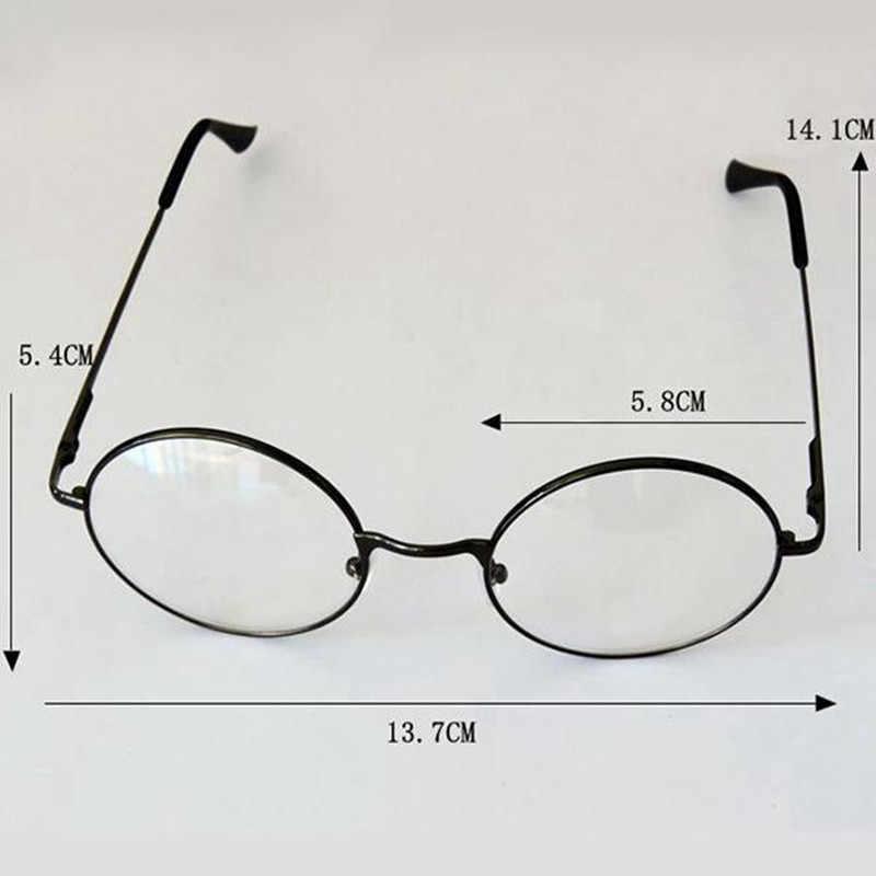 Unisex Retro รอบวงกลมโลหะกรอบแว่นตา Original CLEAR เลนส์แว่นตา 2 รูปแบบผู้ชายคุณภาพสูง HOT