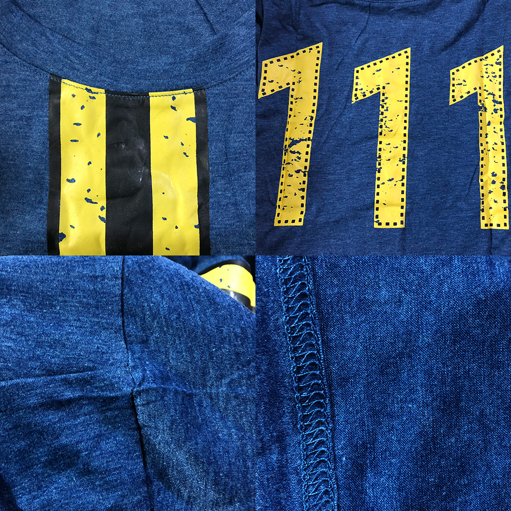 394d13b65 Men Women Fallout 4 T-shirt Cosplay Fallout 4 Vault 111 Tees Nate Sole  Survivor Costume Short Sleeve Tops High Quality