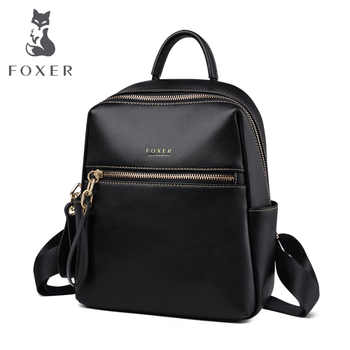 FOXER 2019 Businesswomen Commuter Style Backpack Female Big Capacity Backpack Laptop For Teenagers Leather Backpack Fashion Bags - Category 🛒 Luggage & Bags