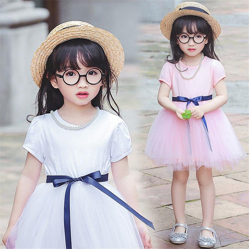 2-8 letnia letnia sukienka dla dziewczynki dzieci księżniczka - Ubrania dziecięce - Zdjęcie 1
