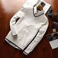 2016 marca camisola homens Eden park camisola não pode dar ao luxo de a bola alta qualidade com decote em v pullovers blusas de algodão de lazer