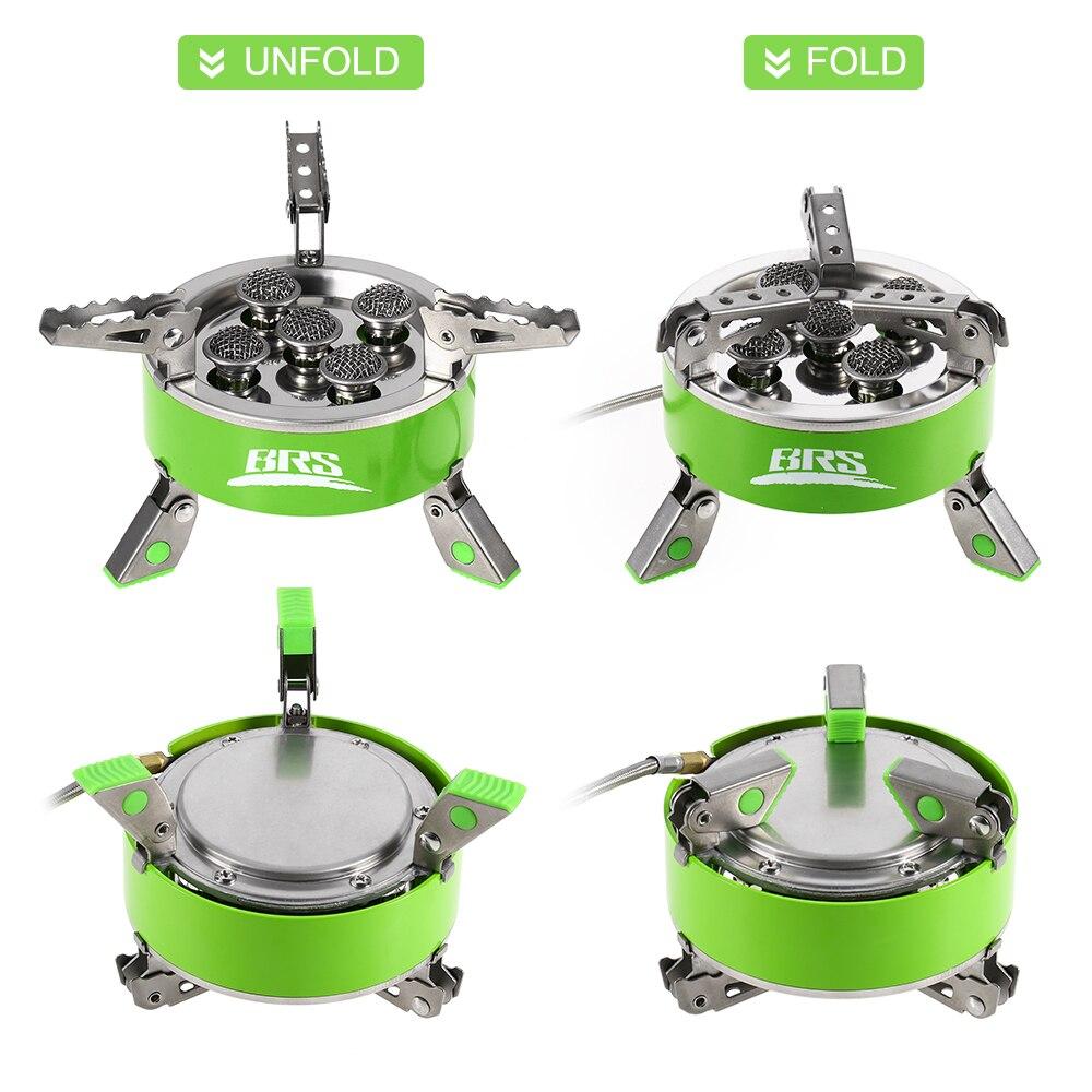 BRS 75 высокой мощности 7000 Вт газовая плита ультра легкий складной для пикника кемпинга пешего туризма открытый кухонная посуда портативный - 2
