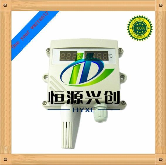 Transmetteur de température/humidité; fonction d'affichage numérique; signal de sortie: 4-20mA/0-5 V/0-10 V/1-5 V;