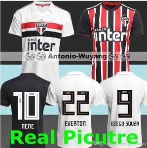 1e8beffe319 18 19 Sao Paulo jersey black EVERTON DIEGO away red TOP 2018 2019 ARBOLEDA  REINALDO