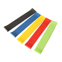 Resistance Elastic Band Exercise Yoga Belt Rubber Fitness Training Stretch,Set of 5