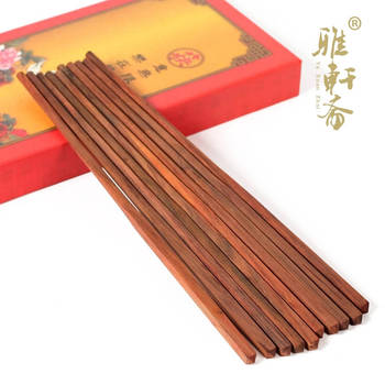 Mahogany red rosewood chopsticks natural wood oille paint wax chopsticks set 10 double