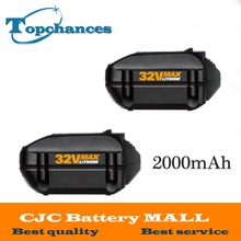 2xHigh Quality WA3537 MAX Lithium 2 0 Ah Battery Replacement for WORX Models WG175 WG575 WG575