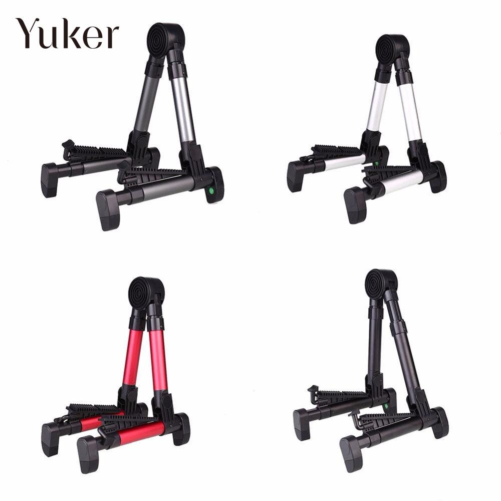 Yuker Portable A-frame Guitar Stand Holder Bracket Mount Foldable Universal for Acoustic Classical Electric Guitar Ukulele Bass foldable scratch proof anti skid guitar stand holder bracket mount universal for acoustic classical electric guitar ukulele bass