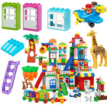 Diy Duploe Car animal Farm Police Building Blocks Compatible with L Brand Parts Accessories Christmas Toys For Children gifts(China)