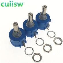 1 pcs 10 3590S-2-103L 3590 S K ohm Precisão Multiturn Potenciômetro 10 Anel Ajustável Resistor
