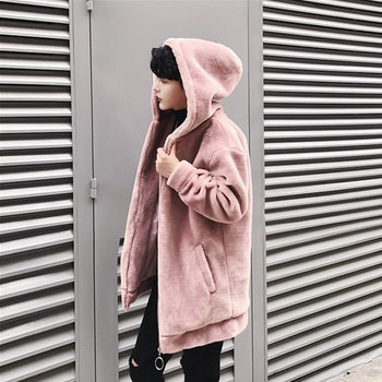 New Winter Warm Thickened Hooded Cardigan Korean Fashion Street Style Jacket Casual Wild Mens Coat  Size M L XL