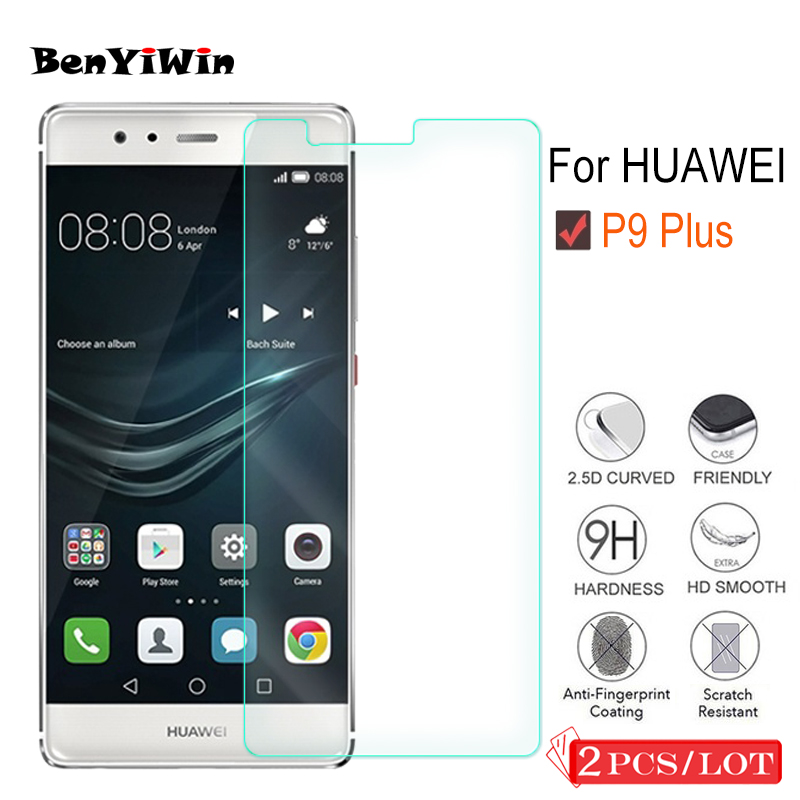 2Pcs 9H Premium Tempered Glass For Huawei P9 Plus Display screen Protector Clear Toughened Protecting Movie Case For Ascend P9 Professional Glass