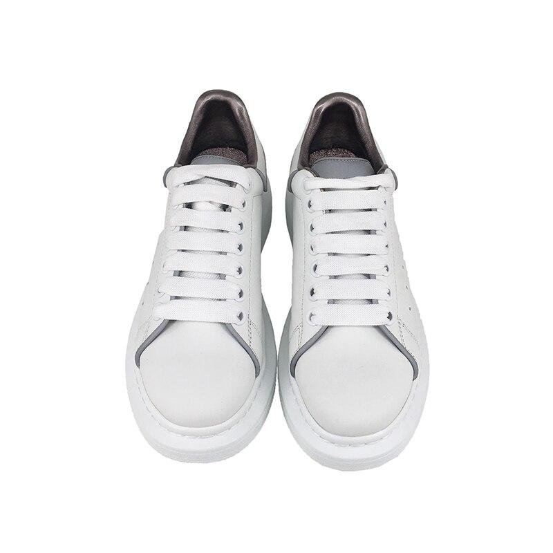 Dentro Cuero Zapatos Esponja Engrosamiento La Deportivos Luminosa Estación Una Blanco Pastel Mujer Nuevos Zapatos Con De 2019 Europea 1 P8Bw6H