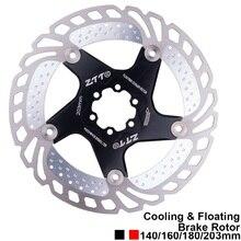 Велосипедный спорт дисковый тормоз охлаждения плавающий ротор нержавеющая сталь 140/160/180/203 мм 6 Болты ротора для MTB Горная дорога велосипед RT99 RT86