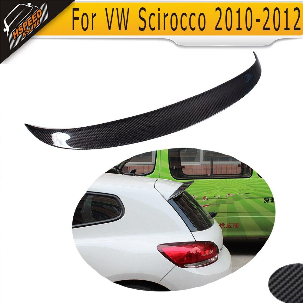 Carbon Fiber Rear Wing Spoiler Lip Auto Car Trunk wing Fit For VW Scirocco Standard Only 10-13 Non R настенно потолочный светильник сонекс 221 sok06 104 alabastro