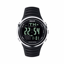 2016New Bozlun Deportes Profesionales De Pesca Inteligentes 5ATM Reloj Con Altímetro Barómetro Termómetro Digital 50 M Impermeable