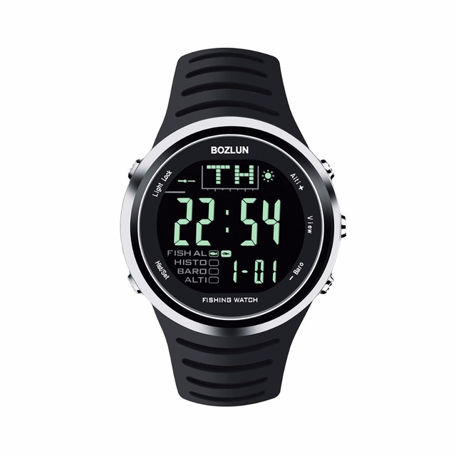 2016New Bozlun  Professional Sports Smart Fishing Digital Watch With  Altimeter Barometer Thermometer  5ATM 50M Waterproof