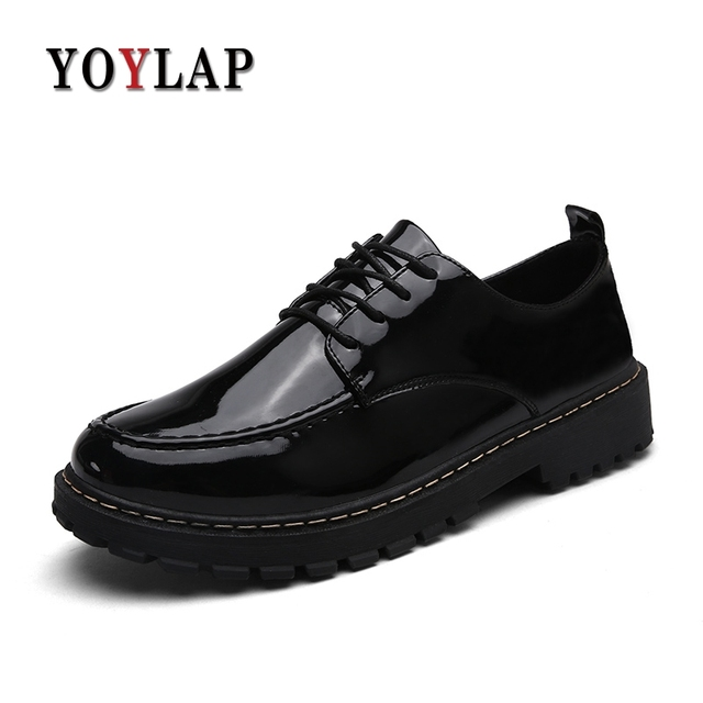 446d20e445 Aliexpress.com : Buy YOYLAP Brand Men Dress Shoes Bright Leather Formal  Business Men Oxfords Shoes Wedding Party Brogue Shoes from Reliable Formal  ...