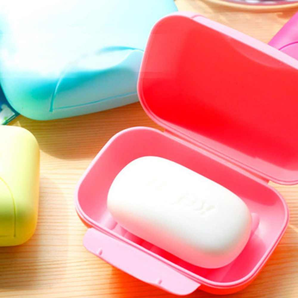 Przenośny Mini Handy pudełko mydło łazienka pojemnik na talerze domu prysznic na zewnątrz podróży piesze wycieczki uchwyt uszczelnienie pojemnika na
