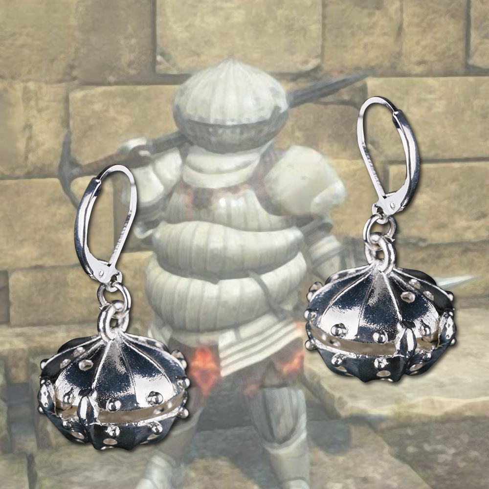 Game Dark Soul Necklace Cosplay Onion knight Necklace Onion Logo Earring vintage Halloween Party Props