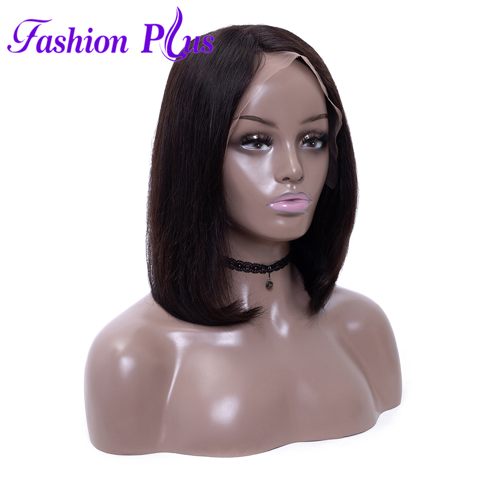 Fashion Plus Full Lace Human Hair Wigs With Baby Hair 150% Density Short Bob Wigs For Black Women Brazilian Remy  Straight Hair