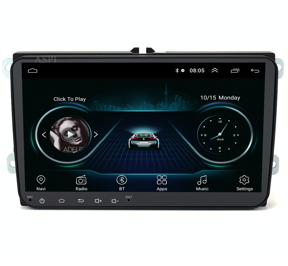 Android 8 1 Car DVD Player GPS for VW T5 Transporter Multivan Touareg with wifi BT