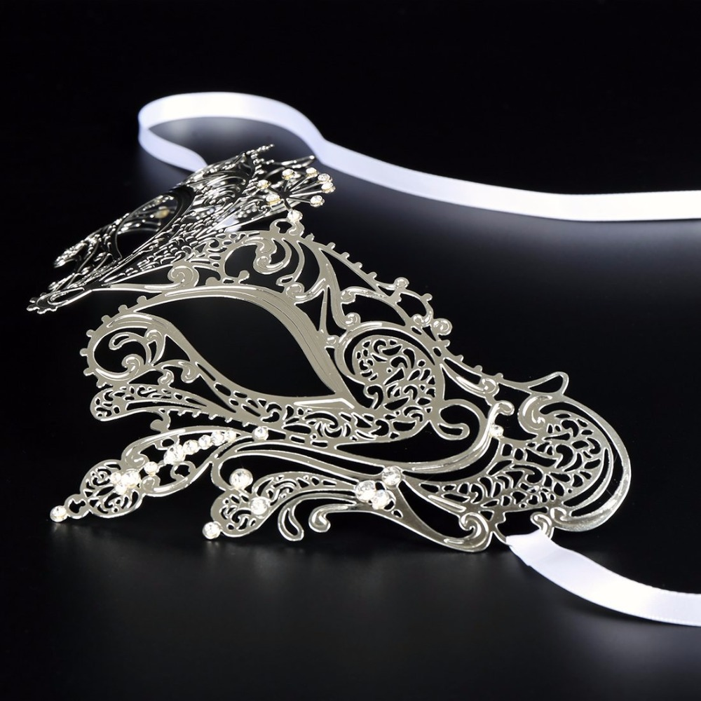 HLC Party Mask Prom Masquerade with Rhinestones Face Mask Carnival Party  Eye Mask fa636b2d49d9