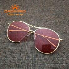 Dada-Pro Marca Diseñador Corea Visión Nocturna V Jumping Jack Gafas de Sol Suave de Los Hombres de Lujo de La Vendimia gafas de Sol Gafas Oculos De Sol