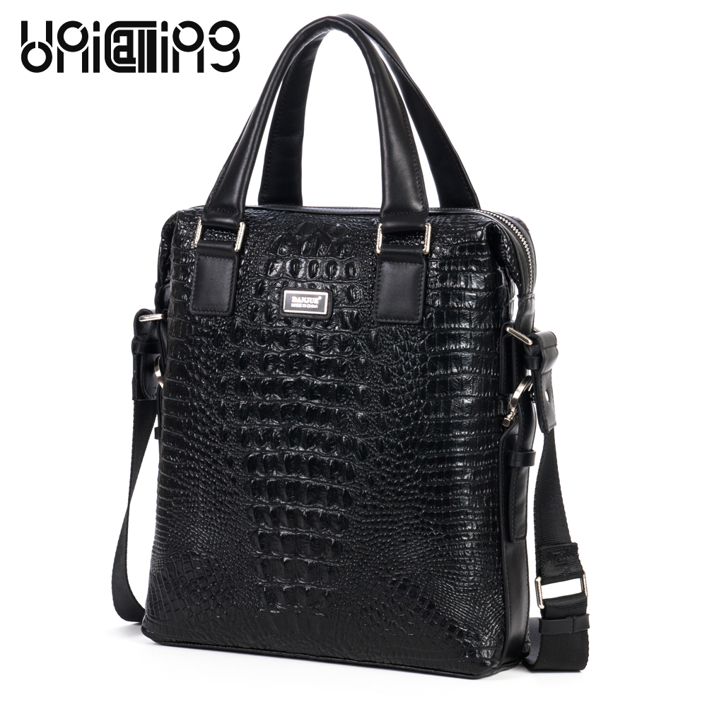 Alligator men handbag genuine cow leather men fashion vertical crossbody handbag brand fashionable leather men shoulder bag чехол df sslim 30 для samsung galaxy j2 prime grand prime 2016