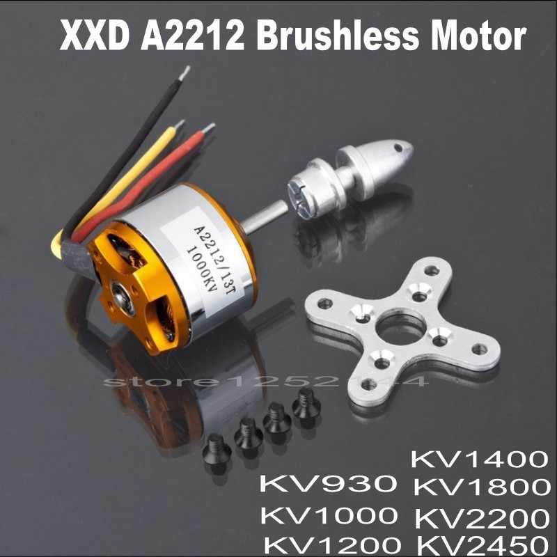 高品質xxdブラシレスモーターa2212 KV930 kv1000 kv1200 kv1400 KV1800 kv2200 KV2450モータ用rc飛行機multicopter