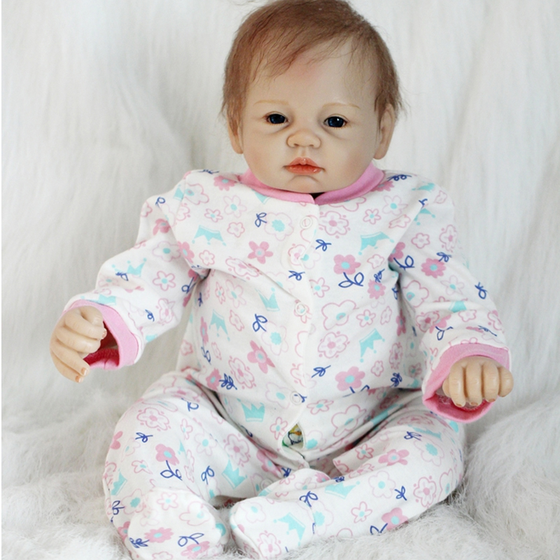 OtardDolls New Arrival Newborn 22 52~55cm Handmade Lifelike Newborn Baby Doll Reborn Soft Silicone Vinyl Hair Rooted Gift realistic about 18 handmade lifelike awake newborn baby doll reborn soft full silicone vinyl wavy hair rooted gift for boy