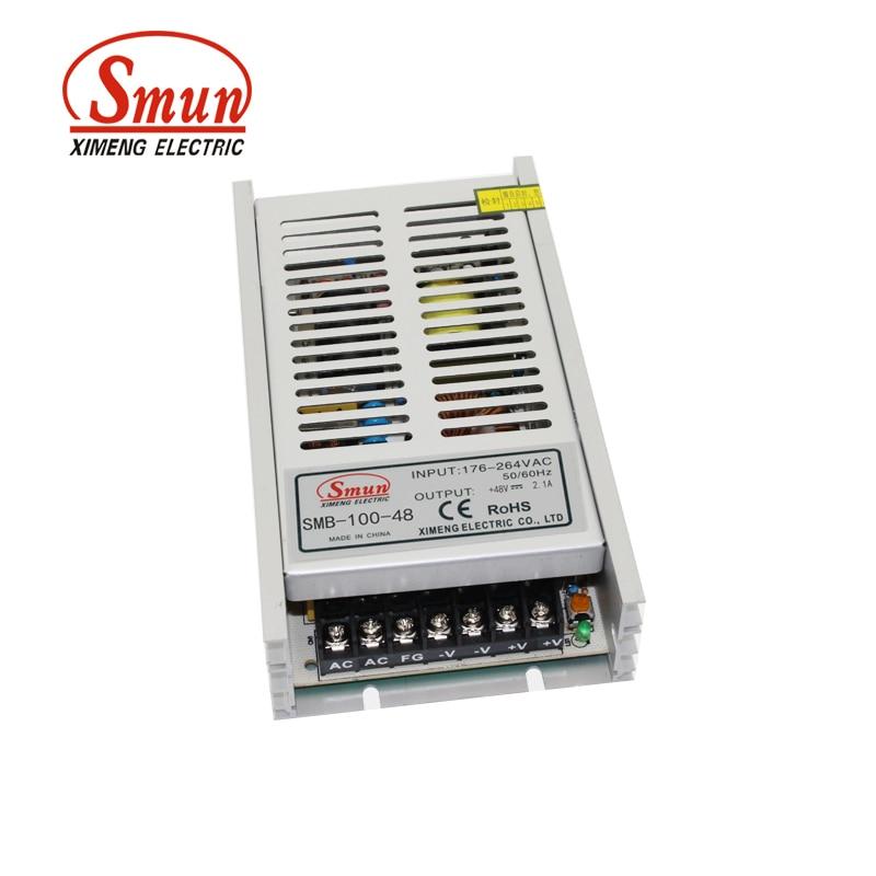 SMUN SMB-100-48 100W Ultra Thin Type Single Output Switching Mode Power Supply 48V 2.1A AC-DC Slim Led Driver встраиваемая акустика speakercraft profile accufit ultra slim one single asm53101 2