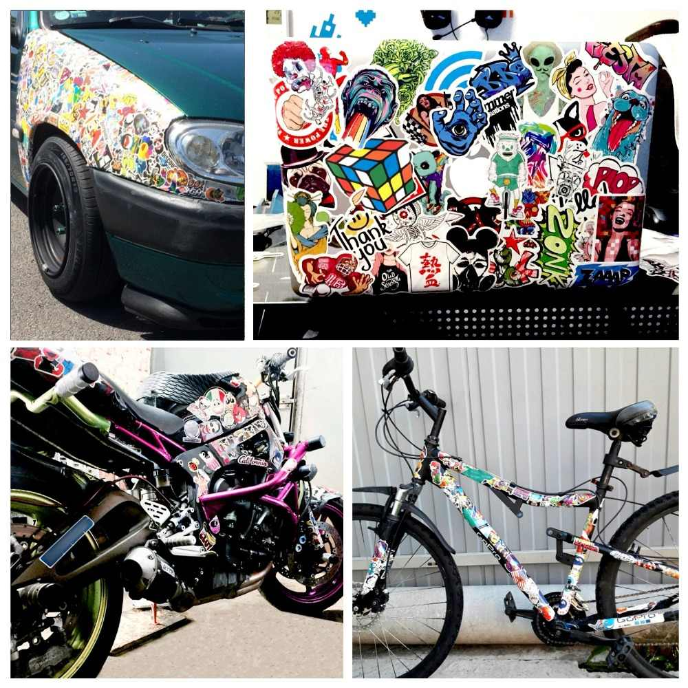 Pegatinas de juguete mixtas de dibujos animados para Estilismo de coches, pegatinas de teléfono para motocicleta, maletas de viaje para ordenador portátil, pegatinas divertidas de bomba JDM, 50 Uds.