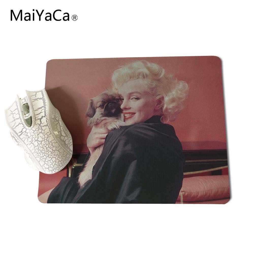 MaiYaCa 2017 Sıcak marilyn monroe alıntı Yeni Küçük Boyutlu Mouse Pad Kaymaz Lastik Pedi 220mm X 180mm X 2mm ve 250mm x 290mm x 2mm