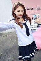 Japan School Uniform Anime Maid Skirt Sailor Uniform Lolita Dress Japan Girl British Navy Style School Costume