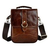Genuine Leather Male Fashion Casual Tote Messenger Bag Design Satchel Crossbody One Shoulder Bag 10 Pad
