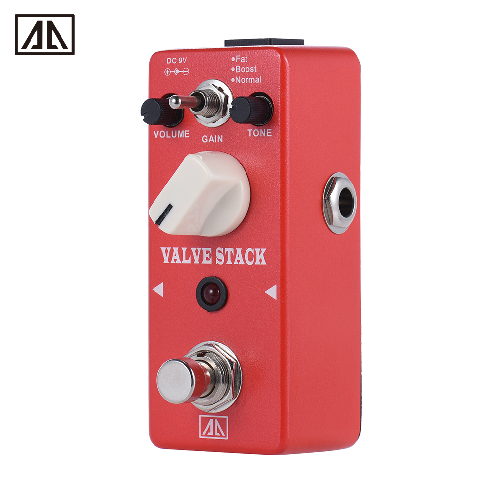 AROMA AVS-5 Classic Tube-driven Amplifier Simulation Distortion Guitar Effect Pedal 3 Modes Aluminum Alloy Body True Bypass aroma vacuum stack valve simulator pedal guitar effect avs 3 true bypass normal mode fat mode volume control tone control