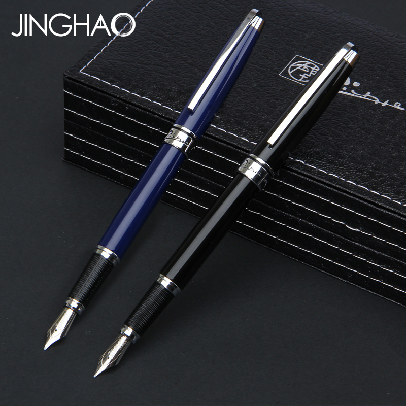 все цены на 1PC Luxury Silver Clip Black or Blue Fountain Pen High-end Pimio 912 Iraurita Ink/gift/writing Pens with an Original Gift Box