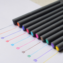 (10 Pieces/Lot) Fine Line Drawing Pen for Manga Cartoon Advertising Design Water Color Pens Stationery School Office Supplies