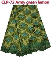 Nowy mody 100% bawełna Afryki koronki tkaniny, najwyższej jakości Szwajcarski woal koronki dla kobiet strój! CLP-72