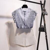 Shein Blusa Zanzea 2018 Summer New Chiffon Office Lady Sleeveless Patchwork Lace Women's Shirt Mandarin Regular Female Blouse