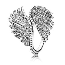 цена на New Trendy Original 100% Authentic 925 Sterling Silver Flying Wing Ring For Women Wedding Ring Lady Fine Pans Jewelry Gift