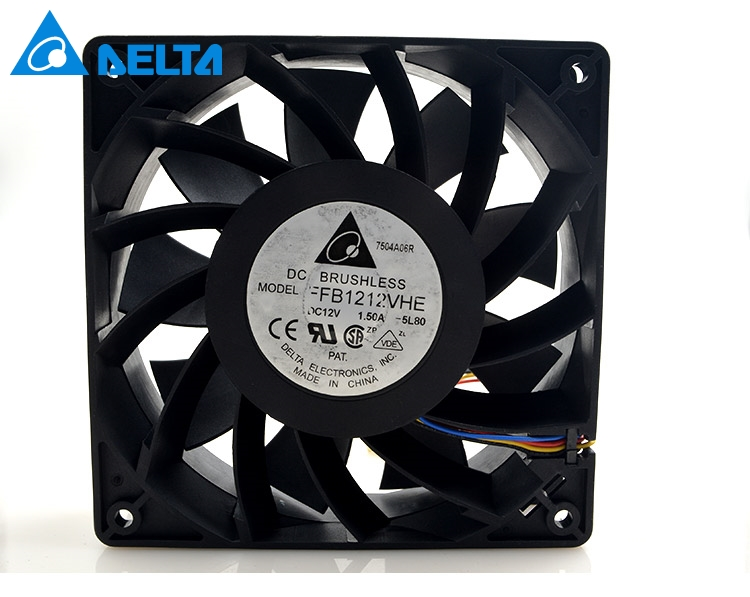Delta orginal FFB1212VHE 4 Wires  DC 12V 1.5A 12038 120*120*38mm Cooler Double Ball Cooling Fans for wholesale delta 12038 120mm 12cm ffb1212vhe dc 12v 1 5a 24w 4wire violence server industrial case cooling fans